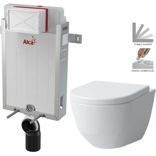 ALCAPLAST - SET Renovmodul - předstěnový instalační systém + WC LAUFEN PRO + SEDÁTKO (AM115/1000 X LP3)