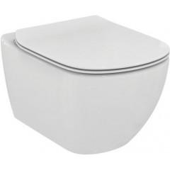 ALCAPLAST Renovmodul - předstěnový instalační systém bez tlačítka + WC Ideal Standard Tesi se sedátkem SoftClose, AquaBlade (AM115/1000 X TE1)