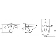 ALCAPLAST - Renovmodul - předstěnový instalační systém + WC CERSANIT ARES (AM115/1000 X AR1)