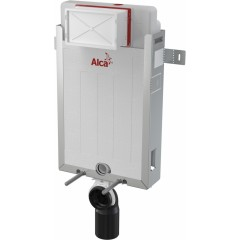 ALCAPLAST Renovmodul - předstěnový instalační systém s bílým tlačítkem M1710 + WC CERSANIT CLEANON COLOUR + SEDÁTKO (AM115/1000 M1710 CN1)