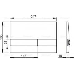 ALCAPLAST - SET Renovmodul - předstěnový instalační systém + tlačítko M1710 + WC TESI se sedátkem SoftClose, AquaBlade (AM115/1000 M1710 TE1)