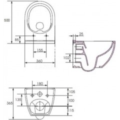 ALCAPLAST Renovmodul - předstěnový instalační systém s bílým/ chrom tlačítkem M1720-1 + WC OPOCZNO CLEANON URBAN HARMONY + SEDÁTKO (AM115/1000 M1720-1 HA1)