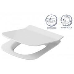ALCAPLAST - Renovmodul - předstěnový instalační systém + tlačítko M1720-1 + WC OPOCZNO CLEANON METROPOLITAN + SEDÁTKO (AM115/1000 M1720-1 ME1)