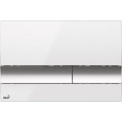 ALCAPLAST - Renovmodul - předstěnový instalační systém + tlačítko M1720-1 + WC CERSANIT MITO + SEDÁTKO (AM115/1000 M1720-1 MI1)