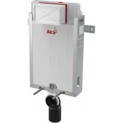 ALCAPLAST Renovmodul - předstěnový instalační systém s bílým/ chrom tlačítkem M1720-1 + WC CERSANIT CLEANON PARVA + SEDÁTKO (AM115/1000 M1720-1 PA1)