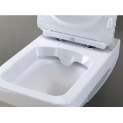 ALCAPLAST Renovmodul - předstěnový instalační systém s bílým/ chrom tlačítkem M1720-1 + WC CERSANIT CLEANON SPLENDOUR + SEDÁTKO (AM115/1000 M1720-1 SP1)
