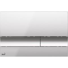 ALCAPLAST Renovmodul - předstěnový instalační systém s chromovým tlačítkem M1721 + WC LAUFEN PRO + SEDÁTKO (AM115/1000 M1721 LP3)
