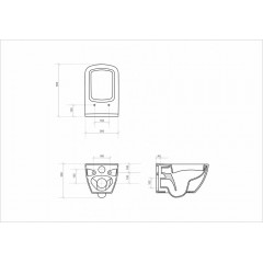 ALCAPLAST - SET Sádromodul - předstěnový instalační systém určený pro suchou instalaci 1,2 m + WC OPOCZNO CLEANON METROPOLITA + SEDÁTKO (AM101/1120 X ME1)