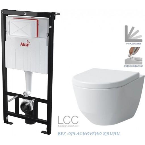 ALCAPLAST - SET Sádromodul - předstěnový instalační systém určený pro suchou instalaci 1,2 m + WC LAUFEN PRO LCC RIMLESS + SEDÁTKO (AM101/1120 X LP2)