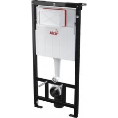 ALCAPLAST - SET Sádromodul - předstěnový instalační systém + tlačítko M1710 + WC CERSANIT CLEANON CREA ČTVEREC + SEDÁTKO (AM101/1120 M1710 CR2)