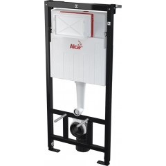 ALCAPLAST - Sádromodul - předstěnový instalační systém + tlačítko M1710 + WC LAUFEN PRO RIMLESS + SEDÁTKO (AM101/1120 M1710 LP1)