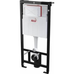 ALCAPLAST - Sádromodul - předstěnový instalační systém + tlačítko M1710 + WC CERSANIT PRESIDENT + SEDÁTKO (AM101/1120 M1710 PR1)