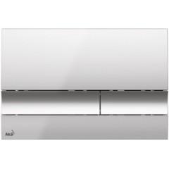 ALCAPLAST - SET Sádromodul - předstěnový instalační systém + tlačítko M1721 + WC CERSANIT MITO + SEDÁTKO (AM101/1120 M1721 MI1)