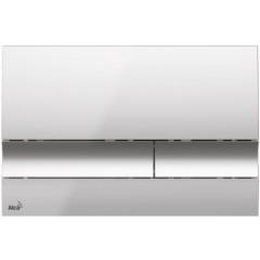 ALCAPLAST - SET Sádromodul - předstěnový instalační systém + tlačítko M1721 + WC TESI se sedátkem SoftClose, AquaBlade (AM101/1120 M1721 TE1)