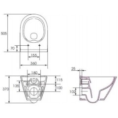 ALCAPLAST - Jádromodul - předstěnový instalační systém + WC CERSANIT CLEANON CITY + SEDÁTKO (AM102/1120 X CI1)