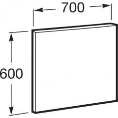 ROCA - Zrcadlo Victoria Basic 700x600mm, rám anodizovaná šedá, hliník (A812327406)