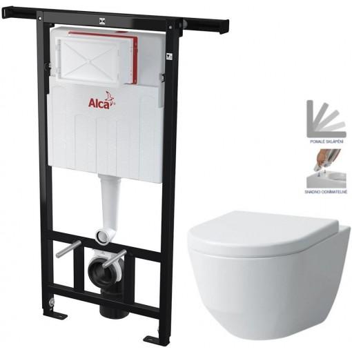 ALCAPLAST Jádromodul - předstěnový instalační systém bez tlačítka + WC LAUFEN PRO + SEDÁTKO (AM102/1120 X LP3)