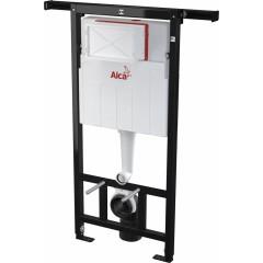 ALCAPLAST - Jádromodul - předstěnový instalační systém + tlačítko M1710 + WC CERSANIT MITO + SEDÁTKO (AM102/1120 M1710 MI1)