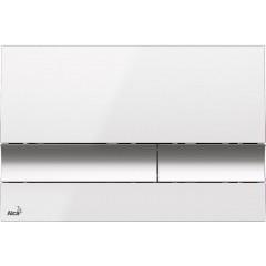 ALCAPLAST Jádromodul - předstěnový instalační systém s bílým/ chrom tlačítkem M1720-1 + WC CERSANIT CLEANON CARINA + SEDÁTKO (AM102/1120 M1720-1 CA2)