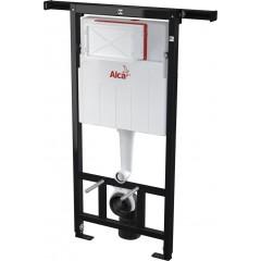 ALCAPLAST Jádromodul - předstěnový instalační systém s bílým/ chrom tlačítkem M1720-1 + WC CERSANIT CLEANON CREA čtverec + SEDÁTKO (AM102/1120 M1720-1 CR2)