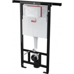 ALCAPLAST - SET Jádromodul - předstěnový instalační systém + tlačítko M1721 + WC LAUFEN PRO RIMLESS + SEDÁTKO (AM102/1120 M1721 LP1)