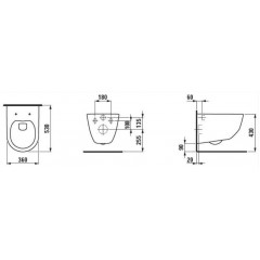 ALCAPLAST Jádromodul - předstěnový instalační systém s chromovým tlačítkem M1721 + WC LAUFEN PRO + SEDÁTKO (AM102/1120 M1721 LP3)