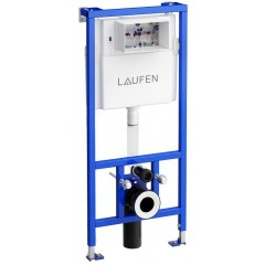 LAUFEN - Rámový podomítkový modul CW1 SET BÍLÁ + ovládací tlačítko BÍLÉ + WC TESI RIMLESS (H8946600000001BI TE2)
