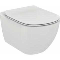 ALCAPLAST Sádromodul - předstěnový instalační systém s bílým tlačítkem M1710 + WC Ideal Standard Tesi se sedátkem (AM101/1120 M1710 TE3)