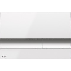 ALCAPLAST - Renovmodul - předstěnový instalační systém + tlačítko M1720-1 + WC TESI (AM115/1000 M1720-1 TE3)