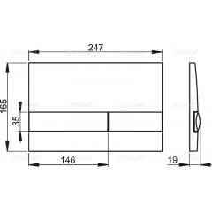 ALCAPLAST Renovmodul - předstěnový instalační systém s bílým/ chrom tlačítkem M1720-1 + WC Ideal Standard Tesi se sedátkem (AM115/1000 M1720-1 TE3)