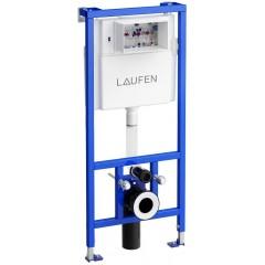 LAUFEN - Rámový podomítkový modul CW1 SET BÍLÁ + ovládací tlačítko BÍLÉ + WC TESI (H8946600000001BI TE3)