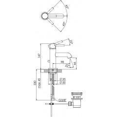 STEINBERG - Umyvadlová páková baterie s výpustí, chrom (100 1055)