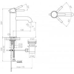 STEINBERG - Umyvadlová páková baterie s výpustí, chrom (100 1755)
