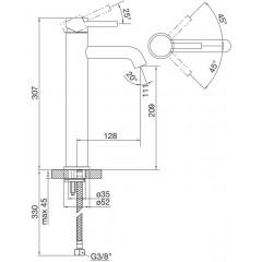 STEINBERG - Umyvadlová páková baterie prodloužená, bez výpusti, černá mat (100 1700 S)