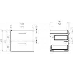 CERSANIT - SET 802 LARA CITY 60 Bílá skříňka + umyvadlo (S801-142-DSM)