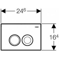 GEBERIT - SET Duofix Sada pro závěsné WC 458.103.00.1 + tlačítko DELTA21 matné + WC CERSANIT ARTECO CLENON + SEDÁTKO (458.103.00.1 21MA AT1)