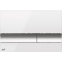 ALCAPLAST - Renovmodul - předstěnový instalační systém + tlačítko M1720-1 + WC CERSANIT CLEANON MODUO + SEDÁTKO (AM115/1000 M1720-1 MO1)