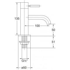 STEINBERG - Stojánkový ventil pro studenou vodu, chrom (100 2500)