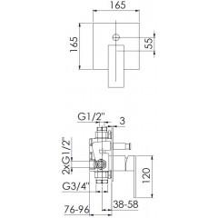 STEINBERG - Podomítková páková baterie, chrom (160 2103)