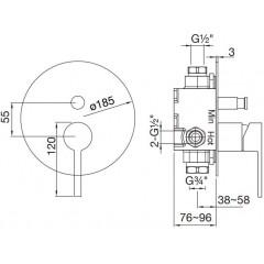 STEINBERG - Podomítková páková baterie, chrom (260 2103)