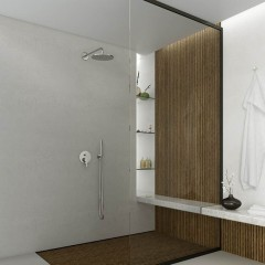 STEINBERG - Podomítková páková baterie pro vanu/sprchu s přepínačem, kartáčovaný nikl (260 2103 BN)