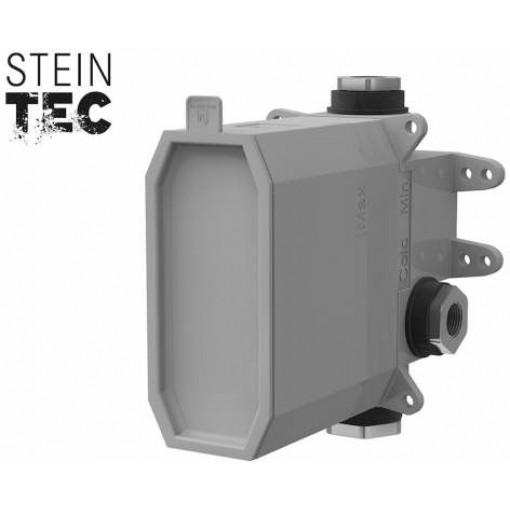 """STEINBERG - STEINBOX Podomítkové montážní těleso 1/2"""" pro vanové/sprchové baterie, černá mat (010 2110 S)"""