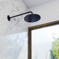 STEINBERG - Hlavová sprcha 250x8mm, Easy-clean systém, černá mat (100 1686 S)