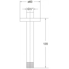 STEINBERG - Sprchové rameno 120 mm, černá mat (100 1571 S)
