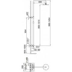 STEINBERG - Sprchový set s termostatickou baterií, černá mat 100 2721 S