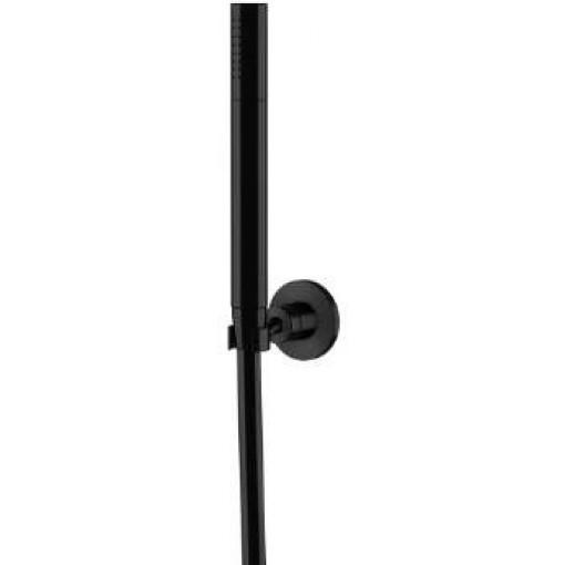 STEINBERG - Sprchová souprava, černá mat (nástěnný držák, ruční sprcha, plastová hadice) (100 1650 S)