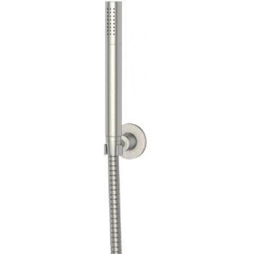 STEINBERG - Sprchová souprava, kartáčovaný nikl (nástěnný držák, ruční sprcha, kovová hadice) (100 1650 BN)