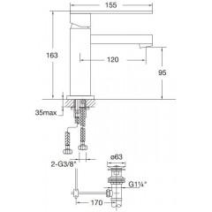 STEINBERG - Umyvadlová páková baterie s výpustí, chrom (160 1000)