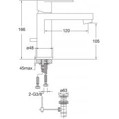 STEINBERG - Umyvadlová baterie s výpustí, chrom (170 1000 1)