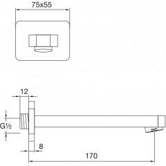 STEINBERG - Umyvadlová/vanová hubice 170 mm (230 2300)